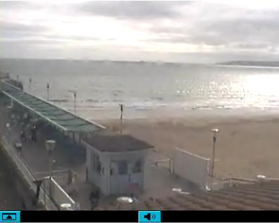 Bournemouth live streaming surfing web cam in Dorset, England